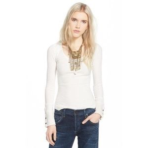 Free People Newbie Thermal Sunni Valley Cuff Ivory